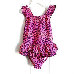 Betsey Johnson Swim - Betsey Johnson Leopard Print Ruffle 1-Pc Swimsuit
